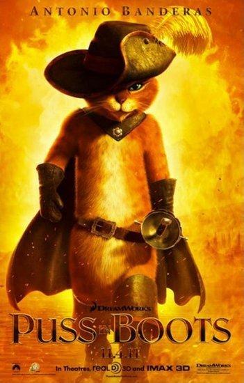 《穿靴子的猫》将于2011年11月4日以3d立体电影的