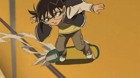 柯南滑滑板qq头像大全