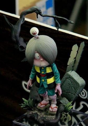 海洋堂可动人形 经典角色鬼太郎驾到