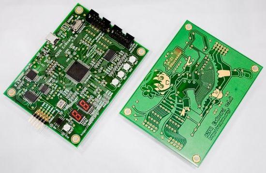 日前,秋叶原UDX南wing举办的电子展中展出了前无古人的CPU萌基板!