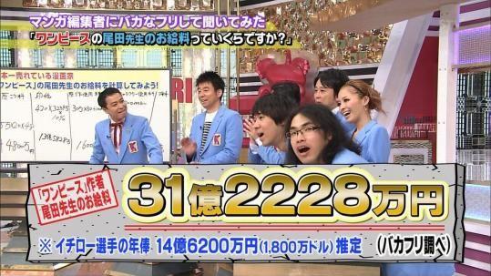 """由于""""海贼王""""人气居高不下、销量节节攀升,一年入账31亿日元"""