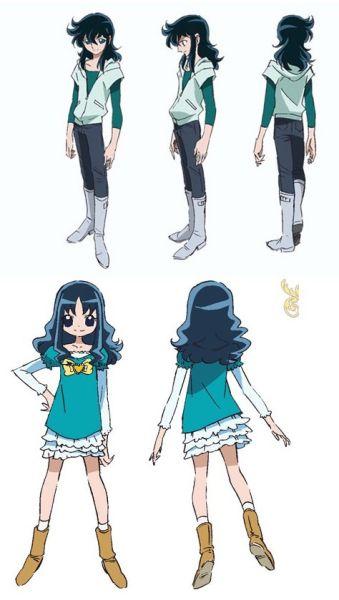 龙峰和《Heart Catch Precure》(抓心Q娃) 女主角之一来海绘里香的人设对比