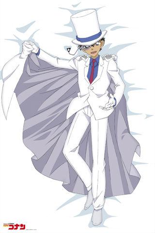 怪盗基德穿的是白色西服+斗篷的经典装束,比较适合天冷的时候使用
