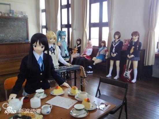 在旧丰乡小学校进行的动画活动