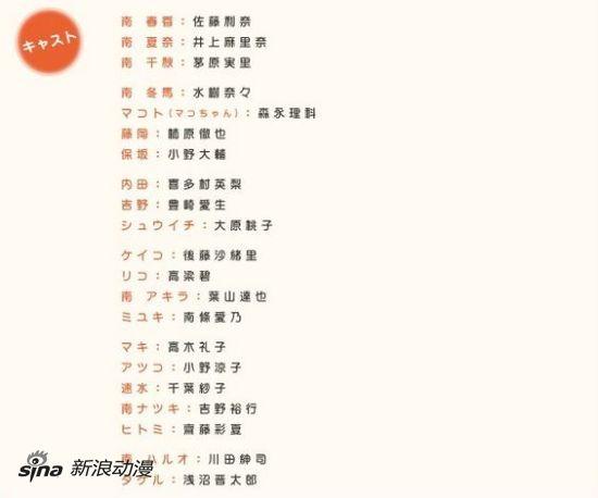 1月新番《南家三姐妹》四期详细制作阵公开