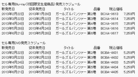 因OVA制作延迟《少女与战车》BD发售延期