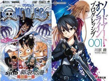 Oricon年间漫画轻小说销量榜《海贼王》登顶