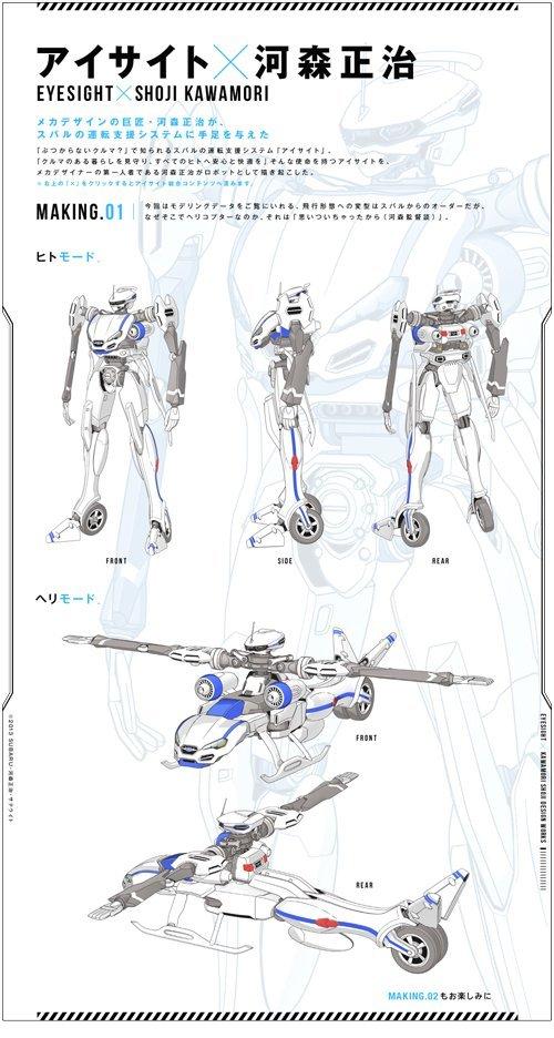 日本富士汽车邀请河森正治设计机器人代言人